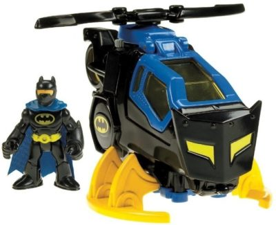 This is an image of boys batcopter in black and blue colors