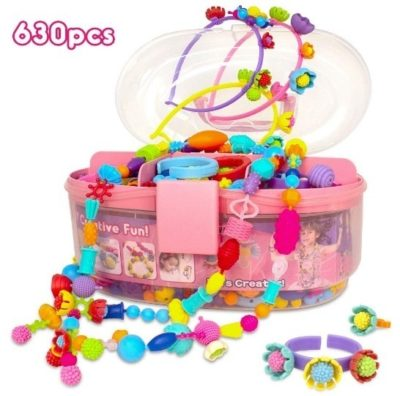 This is an image of girl's jewlery making kit in multi-colors
