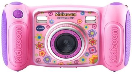 This is an image of girl's camera by VTech in pink color