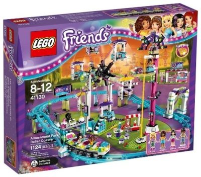 This is an image of girl's LEGO park roller coaster version Friends building set