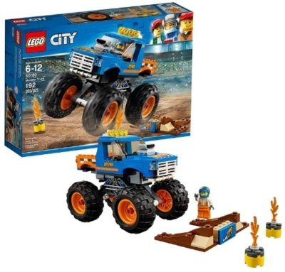 This is an image of boys lego city monster truck building kit