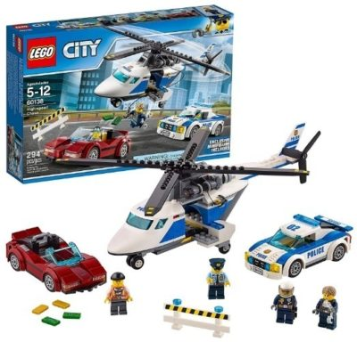 This is an image of lego city police high speed chase building kit