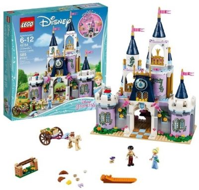 This is an image of girls LEGO disney edition princess cinderella building kit