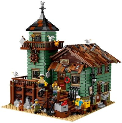 This is an image of lego fishing store building kit