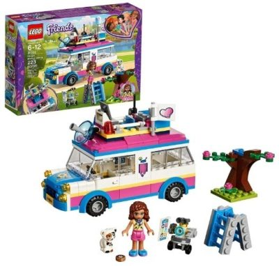 This is an image of girl's LEGO olivia's vehicle version Friends building set