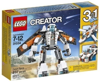 This is an image of boy's LEGO version Creature Future flyers in white color
