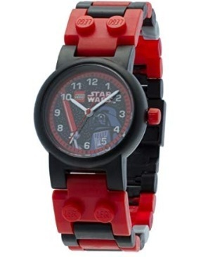 This is an image of boys LEGO star wars watch in red and black colors