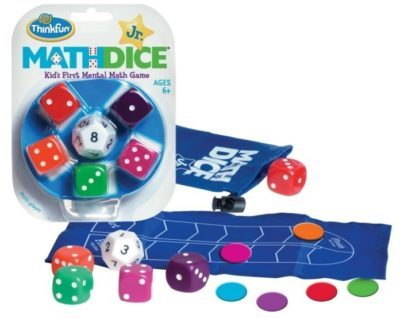 This is an image of kid's math dice junior game
