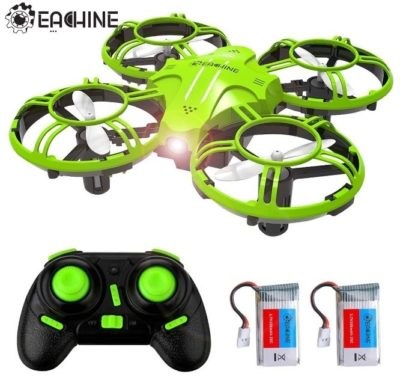 This is an image of kid's mini drone With remote control quadcopter in green color