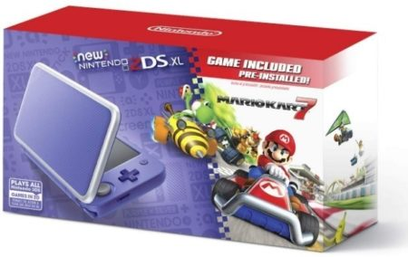 This is an image of boys nintendo 2DS in purple color