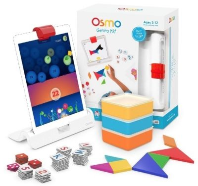 This is an image of boy's Osmo kit for ipad