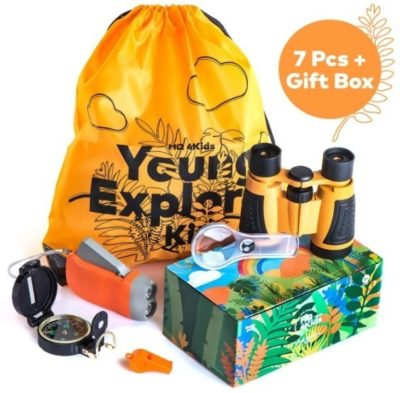 This is an image of girl's outdoor kit in orange color