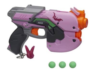 This is an image of a pink overwatch blaster.