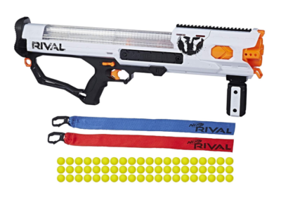 This is an image of a white Hades Nerf gun.