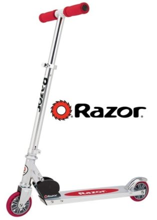This is an image of kid's razor scooter in red color