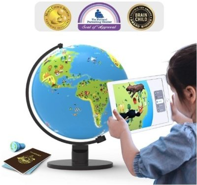 This is an image of boys map with app baised educational globe map