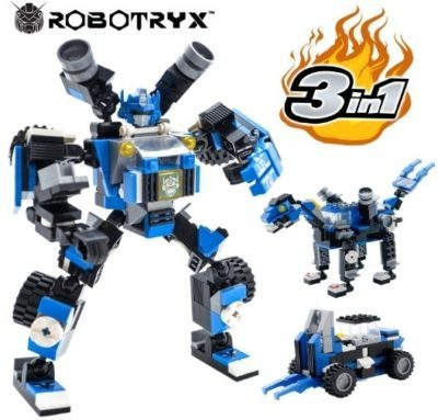 This is an image of boy's Robot 3 in 1 STEM toy in blue color