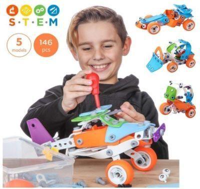 Zoob RacerZ Mini 4 Wheeler Connect Creative Building Toy Car Boys Girls