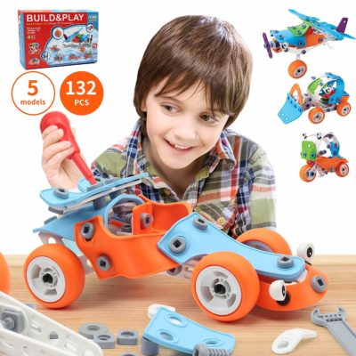 This is an image of boys STEM learning toys