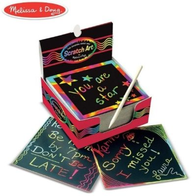 This is an image of boys scratch art box rainbow in black color