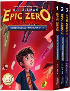 this is an image of the epic zero book series