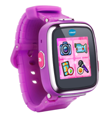 This is an image of a purple kid's smartwatch.