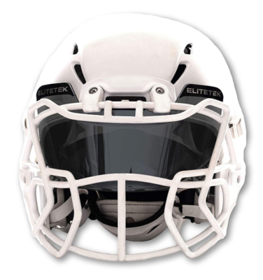 This is an image of a smoke tinted football helmet.