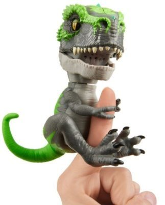 This is an image of kid's T-rex fingerlings