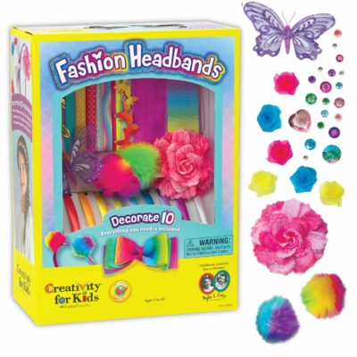 This is an image of a headband with accessories for little 6 year old girls.
