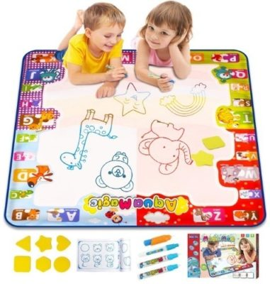 This is an image of boy's large coloring mat