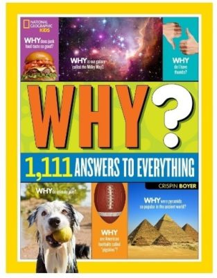 This is an image of girl's Why book answering 1111 questions, very educational and informative book
