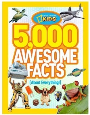 This is an image of boy's educational book with 5000 informative facts