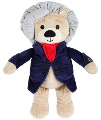 This is an image of girl's beethoven plush with educational musical sounds