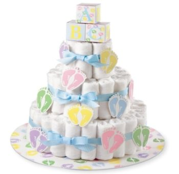 This is an image of boys diaper cake kit in colorful colors