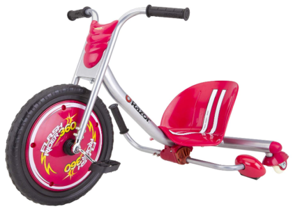 This is an image of girl's flash rider bike by razor in pink color
