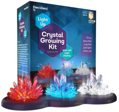 This is an image of girl's growing crystal kit