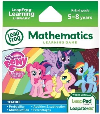 This is an image of girl's learning game with my little pony theme
