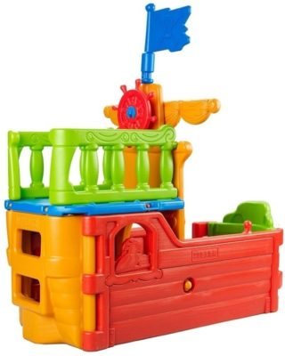 This is an image of toddler's pirate boat climber play