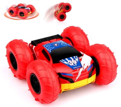 this is an image of girl's betheaces remote control car in red color