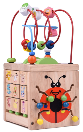 this is an image of babies classic maze cube in colorful colors