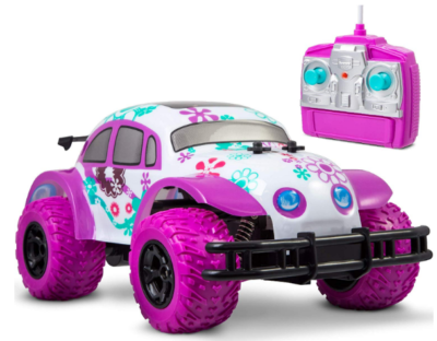 this is an image of girl's remote control car in pink and purple color