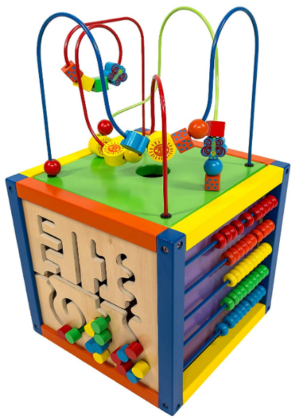this is an image of babies play cube activity center in colorful colors