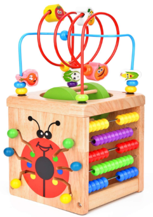 this is an image of babies cube deluxe multi-function in colorful colors