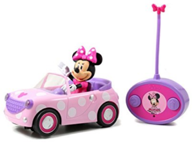 this is an image of girl's minnie mouse remote control car in pink color