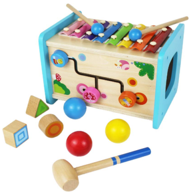 this is an image of babies xylophone pounding ball cube in colorful colors