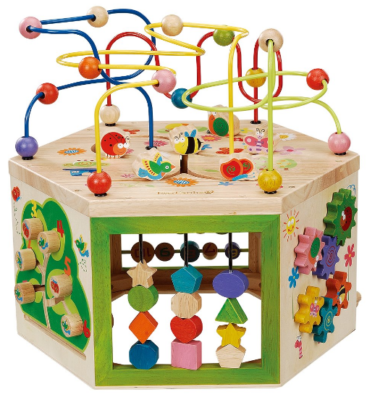 this is an image of babies everEarth garden activity cube in colorful colors