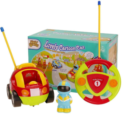 this is an image for girl's remote control car with lights and music in colorful colors