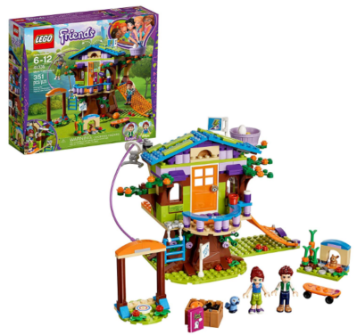 this is an image of boy's lego tree house building sit in multi-colored colors