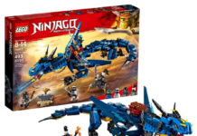 this is an image of boy's lego ninjago building kit in bleu color