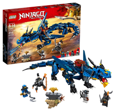 this is an image of boy's lego ninjago building kit in blue color